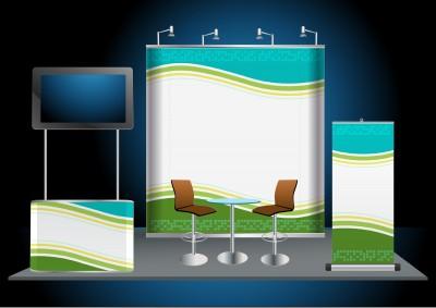 14055561_sWerbung: Messewand mit Pop up Display