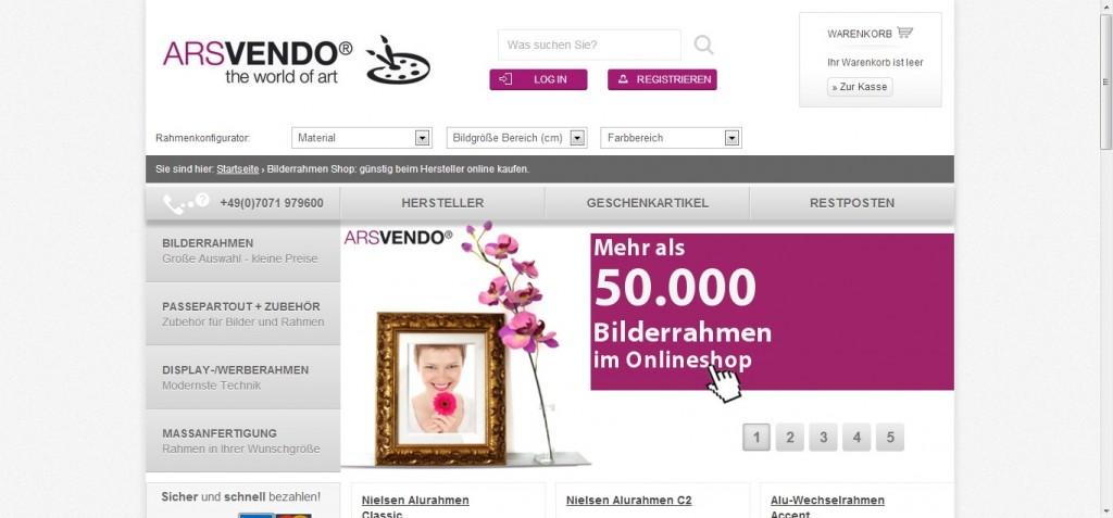 Arsvendo.de Bilderrahmen Shop